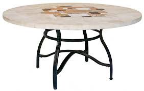Travertine Dining Table Picasso Round Travertine Outdoor Dining Table Interiors Online