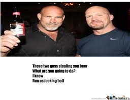 Stone Cold Meme - stone cold and goldberg by waxzz meme center