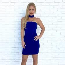 blue bodycon dress bodycon dress in royal blue dainty hooligan boutique