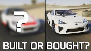 buy a lexus lfa built or bought track lexus lfa vs forza 6