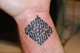 earth air water ambigram leg tattooshunter com