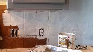 Painted Kitchen Tile Backsplash - Painted tile backsplash