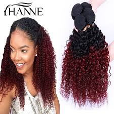 wet and wavy sew in hair care 4bundles malaysia afro kinky curly 1b 99j burgundy two tone ombre