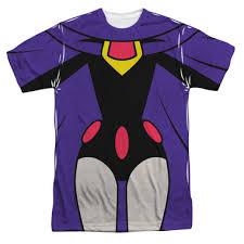 teen titans shirt sublimated raven uniform nerdkungfu