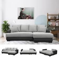 canapé d angle lit convertible canapé d angle droit canapé lit convertible avec coffre en tissu
