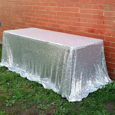 Wedding Linens For Sale Silver Sparkle Round Tablecloth Silver Sequin Tablecloth For Sale
