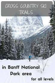 country ski trails in banff national park area for all levels