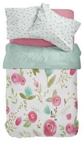 mint pink bird floral toddler bedding contemporary toddler