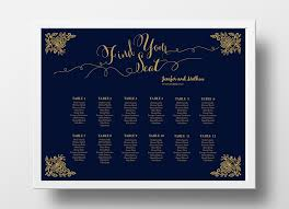 wedding program poster wedding seating chart poster diy editable powerpoint landscape