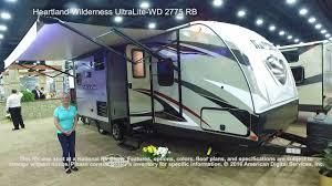 Wilderness Travel Trailer Floor Plan by Heartland Wilderness Ultralite Wd 2775 Rb Youtube