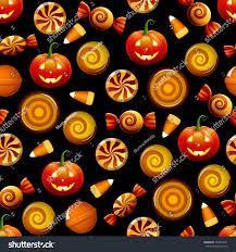 halloween candy seamless pattern texture sweets stock vector