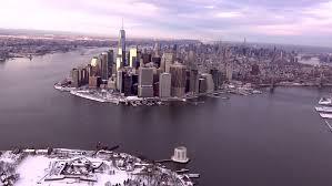 of manhattan york city aerial winter view all of manhattan 4k
