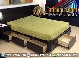 Dipan Kayu Kalimantan tempat tidur minimalis laci 9 kayu jati harga murah
