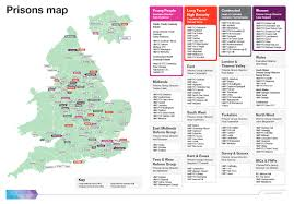Wales England Map by Prisons In England And Wales Clinks Website
