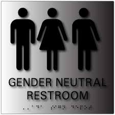 Bathroom Symbols Gender Neutral 3 Symbols Restroom Signs Adasigndepot Com