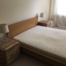 ikea double bed great condition ikea malm oak double bed u0026 sultan hamnvik mattress