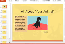 animal report template animal report presentation template for powerpoint