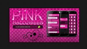 halloween themed keyboard background pink halloween go sms theme android apps on google play