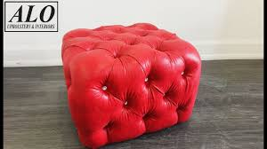Upholster Ottoman How To Upholster A Tufted Ottoman Alo Upholstery