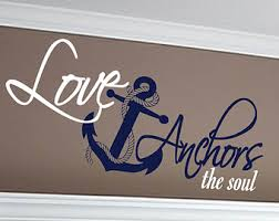 Love Anchors The Soul Wall - anchors soul decal etsy