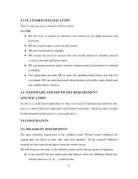 recruitment application full srs developed in salesforce com