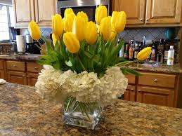 saw this arrangement bought tulips and hydrangeas at kroger