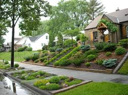 Landscaping Ideas Hillside Backyard Landscaping For Sloped Front Yard With Steps Home Pinterest
