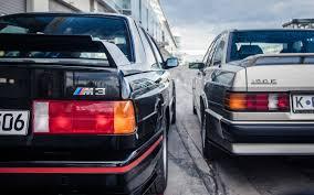 lexus v8 in bmw e30 mercedes benz 190e 2 3 16 vs e30 bmw m3 motor trend classic