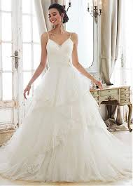 spaghetti wedding dress buy discount alluring tulle spaghetti straps neckline a line