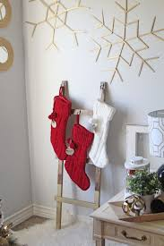 Home Depot Holiday Decor How To Make A Diy Ladder Stocking Holder The Home Depot