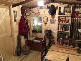 Man Cave Ideas For Small Spaces - your basement could become a hunting cabin for only 107