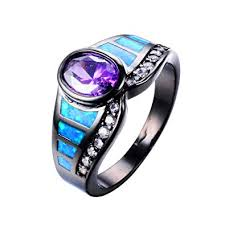 fire opal rings images Wowjew eleant amethyst ring blue fire opal rings black jpg
