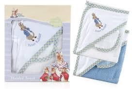 beatrix potter peter rabbit hooded towel wash cloth
