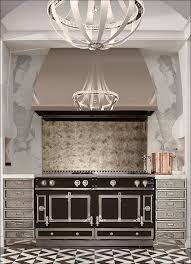 kitchen stainless steel backsplash behind stove bronze tile