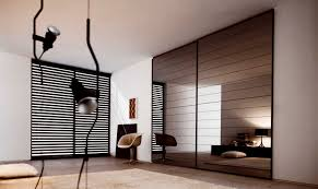 Retro Bedroom Designs by Winsome Sharp Wardrobe System With Glass Sliding Wardrobe Doors