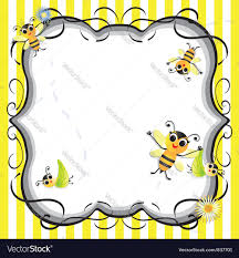 bee baby shower bee baby shower party invitation royalty free vector image