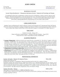 Business Analyst Resume Objective Business Analyst Resume Templates Samples Business Resumes