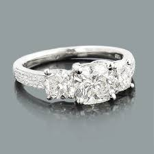 cushion cut engagement ring rings cushion cut engagement ring 2 65ct platinum