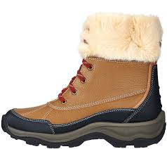 clarks womens boots qvc clarks leather water resistant lace up outdoor boots mazlyn