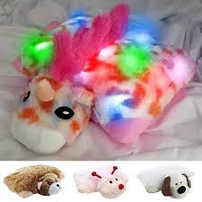 light up ladybug pillow pet dazzle pets light up plush pillow for kids 4 fun styles lady bug