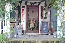 Cottage Front Porch Ideas by Christmas Front Porch 2013 Cottage In The Oaks