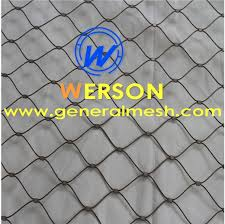 Garden Netting Trellis Stainless Steel Garden Trellis Flex Mesh Hand Woven Stainless
