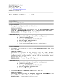 resume for tool and die maker resume for design and development foundry