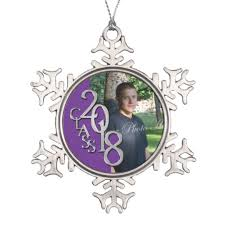 2018 purple silver graduation photo keepsake snowflake pewter