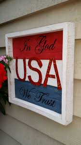 reclaimed wood usa sign in god we trust wall decor pallet
