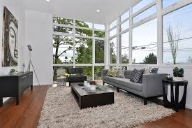 shaggy rugs in living room contemporary with window decorating