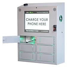 electronic charging station secure cell phone charging stations lockers safecharge