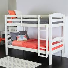 White Wooden Bunk Beds For Sale Walker Edison Solid Wood White Bunk Bed