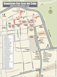 Cabo Map Downtown San Jose Del Cabo Map Los Cabos Guide Cabo San Lucas