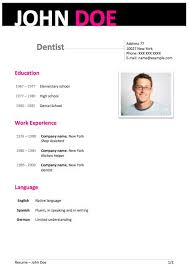Best Resume Format 2013 by Resume Examples 10 Best Resume Template Word 2013 Dentist